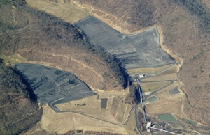 Patriot's New West Hollow slurry impoundments (photo- Bing maps)