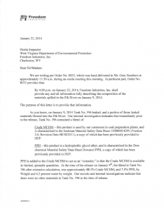 Freedom Industries response to WVDEP Order full pdf